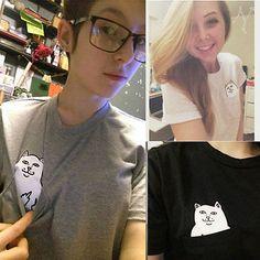 Camiseta mulheres marca verão impertinente gato branco 3D t camisa mulheres encantador dos desenhos animados camisa confortável de Boa qualidade da marca de algodão camisas em Camisetas de Das mulheres Roupas & Acessórios no AliExpress.com | Alibaba Group