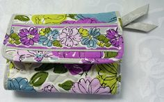 Vera Bradley Watercolor Euro Trifold Wallet Purse Retired #VeraBradley #EuroWallet