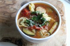 Sausage and Tortellini Soup | Baker by Nature #dinner #soup #recipe