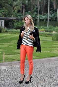 look - glam4you - nati vozza - leather - pants - couro - tweed - listras - chanel - ysl - calça de couro - look
