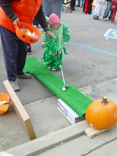 we're adding Pumpkin golf to our Halloween event this year: