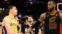 Add Lonzo Ball to the list of people ecstatic to see LeBron James agree to a contract with the Los Angeles Lakers . Los Angeles Clippers, Los Angeles Lakers, Showtime Lakers, Nba Trades, Best Duos, Nba News, Free Agent, Basketball Players, Kobe Bryant