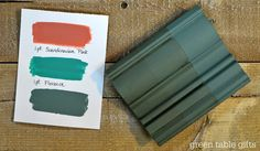 Chalk Paint® mix of Scandinavian Pink & Florence with clear wax, tinted wax, and dark wax. Follow Green Table Gifts on Facebook for Mixology Monday! #chalkpaint #colormix #teal #turquoise #blue