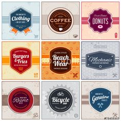 Vettoriale: Retro labels