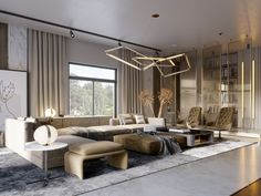 SHADES OF BEIGE on Behance Classy Living Room, Living Room Modern, Living Room Designs, Living Room Decor, Floor Design, House Design, Shades Of Beige, Luxury Living, Modern Luxury