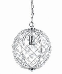 Look at this Silver Web Small Round Pendant Chandelier on #zulily today!
