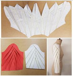 Sleeve drafting inspiration courtesy of Just amazing!TR Cutting Masters from around the world - The Shapes of Fabric Mode Origami, Sewing Sleeves, Pattern Draping, Pola Lengan, Sleeves Designs For Dresses, Modelista, Creation Couture, Dress Sewing Patterns, Skirt Patterns