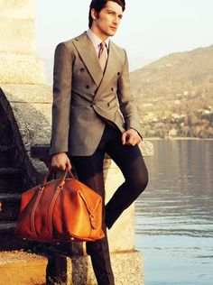 Leather bag makes a perfect man