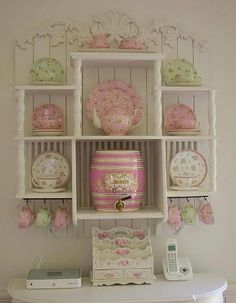 Shabby Chic Display Shelves - this would make a great DIY project
