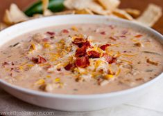 Jalapeno Popper Chicken Chili - Love spicy stuff - will definitely have to try this!