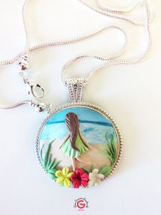 Polymer Clay Pendant Applique Polymer Clay by GinaCarrascoHandmade