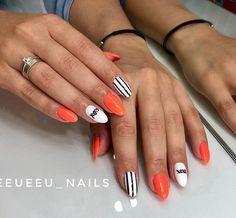 Checkered Nails, Orange Nails, Manicure, Nail Designs, Polish, Nail Art, Nail Bling, Pretty Nails, Nail Manicure