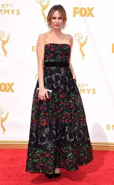 Keltie Knight from 2015 Emmys: Red Carpet Arrivals  In Elie Saab