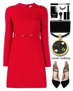"""Anastazio-Winter Wedding"" by anastazio-kotsopoulos ❤ liked on Polyvore featuring Valentino, Anastazio, Edie Parker, Butter London, Witchery, NARS Cosmetics, Unique, vogue and luxury"