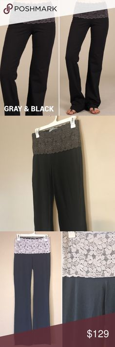 "Black Lace Waist Yoga Pants 🇺🇸LAST ONE IN USA!! *****PRICE FIRM****    LAST ONE IN THE COUNTRY!!!!    Not See thru Leggings by Chatoyant   Most comfortable lounging pants, yoga leggings EVER!!   ***Gray & Black SMALL.   LACE waist bootcut yoga leisure resort wear pants Stretchy LACE waist = NO MUFFIN TOP! Slimming high rise  Not See through Pants  Fabric Cotton/Spandex 95/5 Jersey Made in USA   Measurements  Stretchy Waist, Length, Inseam Small-13,36,33.5""  Medium-15,36,33.5""…"