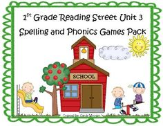 What a fun and engaging way to practice the spelling and phonics patterns from Reading Street Basal Series Unit 3! This pack includes 12 games that...