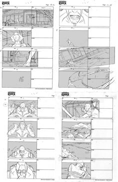 Legend of Korra storyboards