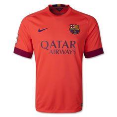 Nike Men s FC Barcelona Stadium Away Jersey Bright Crimson Loyal Blue d24b6e3f5f7