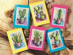 Free cactus from Cross Stitch Card Shop! | Free Chart | Cross Stitching