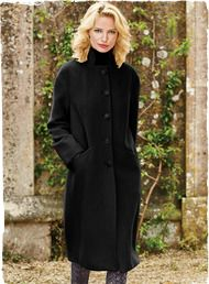 Fend off winter's chill in style. Harkening back to vintage 60s styles, our soft, chic coat has a relaxed, column silhouette, with a stand collar, drop shoulders, deep back vent and full-length sleeves. Luxuriously soft and sumptuous in brushed suri alpaca (65%), wool (32%) and nylon (3%). Fully lined.