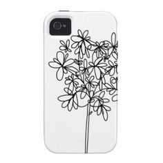 iPhone Case - Black and White Flower iPhone 4 Case