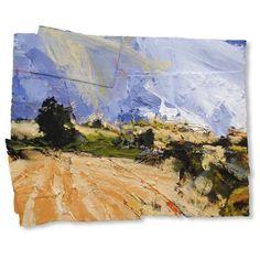 David Tress English Harvest Landscape1 MIxed Media on Paper 54 x 65 cm.