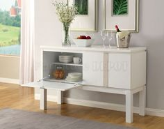 CM3176WH-SV Lamia Server in White High Gloss Lacquer