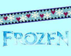 Disney Frozen Anna Inspired Snowflake Peyote Bracelet Pattern Disney Jewelry DIY