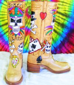 painted boots