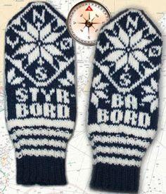 Ship o'hoi votter Fingerless Mittens, Wrist Warmers, Ship, Knitting, Fingerless Mitts, Wristlets, Fingerless Gloves, Tricot, Breien
