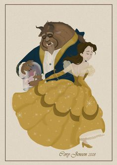 """Yes, this is the same Bell picture is used in my """"Golden Beauty"""" picture but I added the Beast to it. My friend ( ) saw the original picture I did in my.I love her Disney Couples, Disney Love, Disney Belle, Disney Princess Art, Disney Princesses, Belle And Beast, Fan Poster, Disney Images, Love Fairy"""