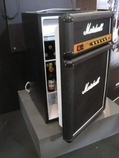 At the Old National Center in Indy, but it's a speaker converted into a mini fridge.