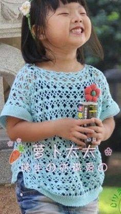 Girl's crochet top