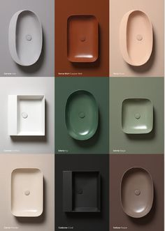 Bathroom sink varieties from Azzurra Ceramica. Which is your favorite? Color Inspiration, Interior Inspiration, Interior Ideas, Lavabo Design, Bathroom Toilets, Bathrooms, Vintage Modern, Bathroom Interior Design, Interior Modern