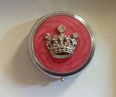 Jeweled Crown Pillbox & Compact Mirror. Starting at $10 on Tophatter.com!