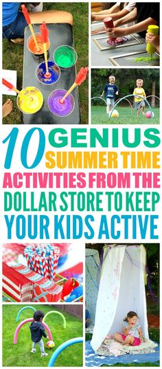 These 10 Dollar Store Hacks to Keep Your Kids Busy All Summer are THE BEST! I'm so happy I found these AMAZING tips! Now I have some great ways to keep my kids off the computer and having fun this summer! Definitely pinning!