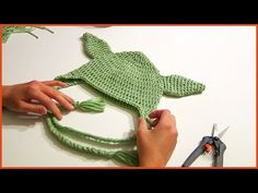 How to Crochet a YODA HAT Tutorial Step By Step - YouTube
