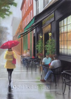 umbrellas.quenalbertini: 'La Dolce Vita' The Red Umbrella Series | Liz Hess