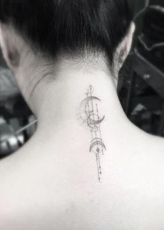 Geometric Back Neck Tat by Doctor Woo