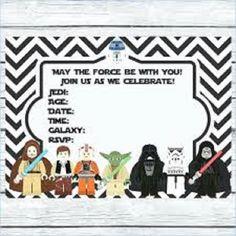 Star Wars Lego Birthday Invitations Printable Free Invitation