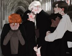 Read from the story Harry Potter \drarry talks/ by (Słowacka) with reads. Harry Potter Comics, Fanart Harry Potter, Arte Do Harry Potter, Harry Potter Ships, Harry Potter Jokes, Harry Potter Fandom, Harry Potter Hogwarts, Drarry Fanart, Harry And Hermione Fanfiction