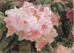 Laurits Tuxen; Blomstrende Rhododendron, Skagensmalerne