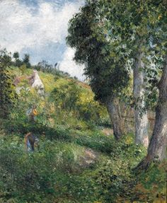 Reproduction oil paintings - Camille Pissarro - Paysage 'au chou', pres pontoise