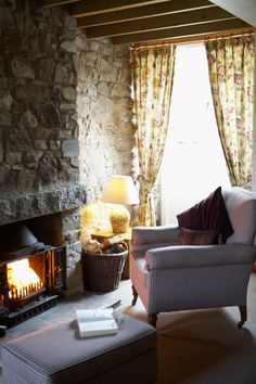 A cosy open fire in the lounge makes this cottage really inviting