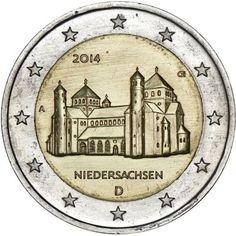 moneda conmemorativa 2 euros Alemania 2014. 5 monedas