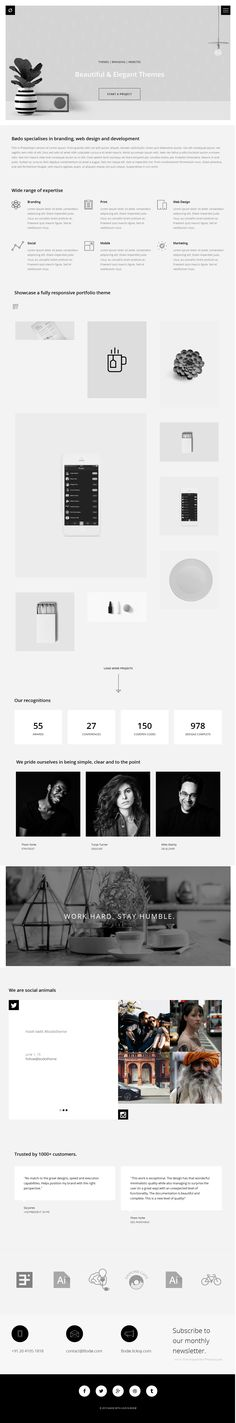 Bodø a Beautiful Agency & #Portfolio Template tells a story through imagery, fonts and an amazing new layout. With not a pixel out of place, it is the most amazing way to highlight all of your or studios work. #WordPress #Website