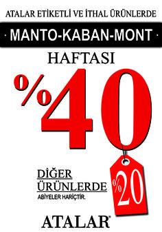 25 Kasım - 2 Aralık tarihleri arasında manto-kaban-mont'ta %40; diğer her şeyde %20 indirim #MarmaraPark Atalar'da!