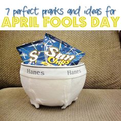 SEVEN Perfect Pranks and Ideas for April Fools Day! Includes food pranks, printables, etc... #aprilfoolsday #pranks