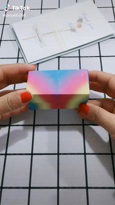 Origami. Mini rectangular box. ONEMIX Diy Crafts Hacks, Diy Crafts For Gifts, Diy Home Crafts, Diy Crafts Videos, Cool Paper Crafts, Paper Crafts Origami, Diy Paper, Fun Crafts, Instruções Origami