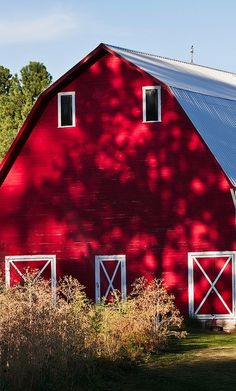 Beautiful red barn
